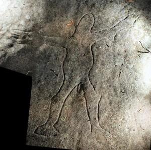 Girrakool - an engraving of a figure