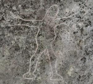 Girrakool - an engraving of Girrakool Man